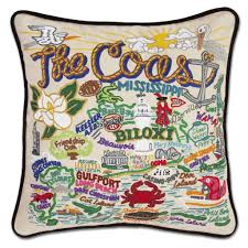 Mississippi Coast Pillow by Catstudio
