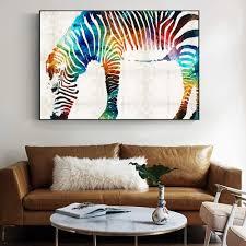 malkarton 60cm xcsmwja aquarell zebra wandkunst leinwand