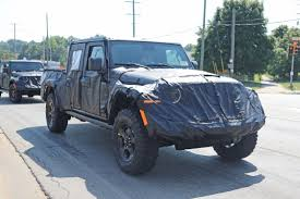 Jeep Wrangler Pickup Spied In Gnarly Off-Road Trim