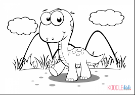 Spectacular Baby Dinosaur Coloring Pages With Color And Free Printable