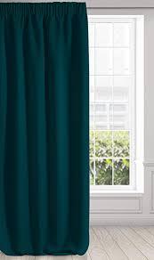 eurofirany logan verdunkelung vorhang blickdicht satin kräuselband gardine einfarbig 1 stk modern wohnzimmer schlafzimmer kinderzimmer petrol