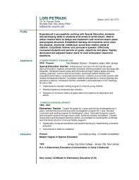 Resume Examples For Educating Teaching