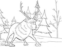 Frozen Sven From Disney Movie Coloring Page