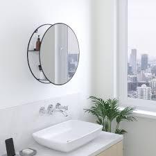 umbra cirko spiegel regal ø 52 cm schwarz