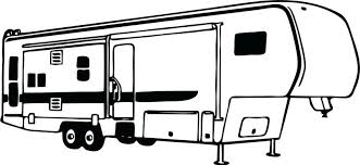 Camper Clipart Family Camping Pencil And In Color Free Support Wheel Top 30