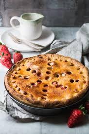 strawberry apple pie gedeckter apfelkuchen mit erdbeeren