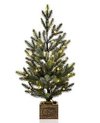 Martha Stewart Collection Small LED Snowy Pine Tree With Merry Christmas Wood