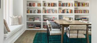 Trendy Duo Dining Room Library Bookshelves