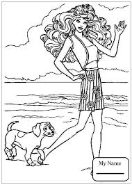 Barbie In Fairy Style Dress Cartoons Coloring Pages For Kids