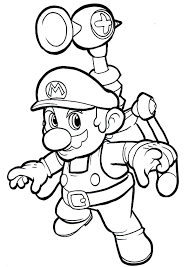 Mario Coloring Pages Print Free Super Educational Fun Kids