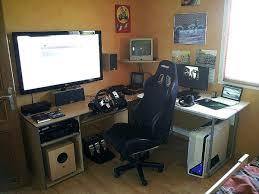 pc gamer bureau bureau d angle gamer bureau gamer meuble unique bureau d angle