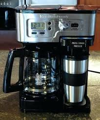 Coffee Maker Hamilton Beach Front View Of The 2 Way Hybrid Single Cup And Drip