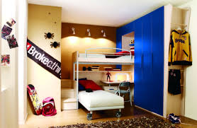 Bedroom Decor With Loft Beds For Teenagers Drawer And Desk Ideas Awesome In White N Next To The Blue