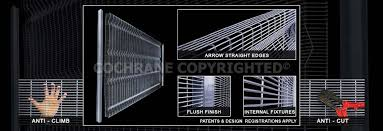 The Drawing Of Anti Climb Fence Installation Including Security Fencing Cochrane Steel Clearvu Security Mesh Clearvu