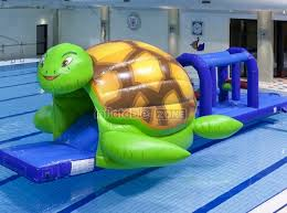 Special Today Green Turtle Wet Slide Inflatablespool Inflatable Slides For Kids