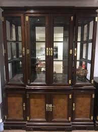 This Is A Lounge Dining Room Suite Consisting Of Glass Display Cabinet Under Serving Cupboardtwo Small Oval Tablesand Coffee Table