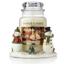 Qvc Christmas Tree Hugger by Yankee Candle Decorative Jar Hugger With Large Xmas Cupcake Candle