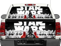 100 Rear Truck Window Decals Star Wars Darth Vader Empire OR Tailgate Decal Sticker