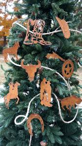 Western Christmas Tree Ornament Theme Sets Country Cowboy Angel Topper