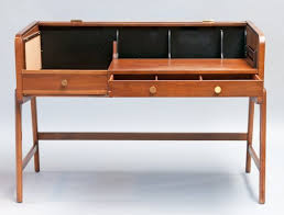 Sligh Lowry Desk Leather Top by Mid Century Walnut Desk With Tambour Top By Sligh Lowry At 1stdibs