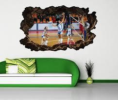 3d wandtattoo spiel frauen turnier selbstklebend wandbild wohnzimmer wand aufkleber 11l2212 wandtattoos und leinwandbilder günstig