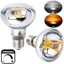 dimmable r80 es led filament reflector bulb 8w 60w replacement