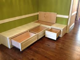 Wonderful How To Build A Banquette Out Of Cabinets On Dining Room Bench Seating With Hidden Storage