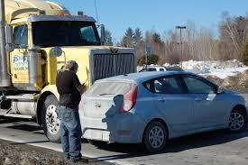 100 Richard Carrier Trucking Truck Pushes Car Sideways For 200 Feet In Farmington Lewiston Sun