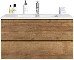 badezimmer badmöbel set angela 90cm f oak unterschrank schrank waschbecken waschtisch