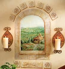 Vineyard Tuscan Wallies Window Mural 13415M