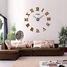 2019 heißer echt ankunft digitale spiegel große wanduhr moderne wohnzimmer quarz metall uhren freies verschiffen hause dekoration uhr spargut