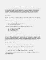 Welder Resume Template Welding Objective Format
