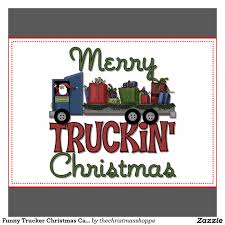 100 Funny Trucking Pictures Trucker Christmas Card Zazzlecom Trucker