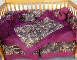 real tree max 4 advantage camouflage and maroon minky dot crib