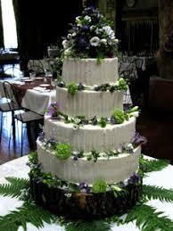 Buttercream Woodland Rustic Wedding Cake
