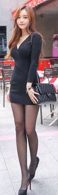 Sexy Skirt Asian Ladies Well Dressed Fashion Beauty Legs Women Mini Posts