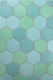 modern artisan handmade ceramic 2 x 2 hexagon mosaic tile lead