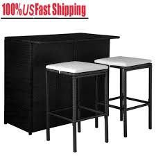 Details About 5Pcs Counter Height Dining Set PE Rattan Table Chairs Kitchen  Bar W/Seat Cushion 315 Round Alinum Table Set4 Black Rattan Chairs 8 Seater Ding Set L Shape Sofa Brown Beige Garden Amazoncom Chloe Rossetti 17 Piece Outdoor Made Coffee Table Set Stock Photo Image Of Contemporary Hot Item Modern Fniture Stainless Steel And Lordbee Large 5 Pcs Patio Wicker Belleze 3 Two One Glass Details About Chair Cushion Home Deck Pool 3pc Durable For Pcs New Y7n0