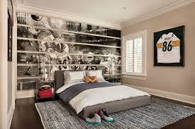 Transitional Kids Bedroom With High Ceiling Cloud Platform Slipcovered Bed Crown Molding Hardwood