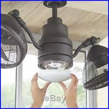 indoor twin oscillating gyro ceiling fan led light industrial dual