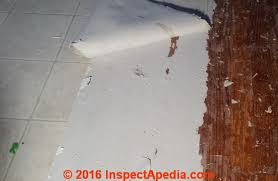 Types Of Flooring Materials by Identify Types Of Resilient Or Sheet Flooring That Contain Asbestos