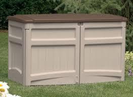 Keter Woodland Storage Box by Plastic Garden Storage Box Garden Storage Wooden Plastic And Metal
