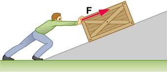 A Man Pushes Crate Up Ramp