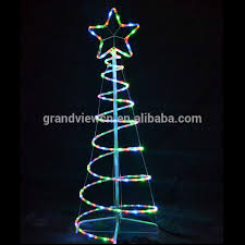 LED Outdoor Spiral Rope Light Christmas Tree For Street Decoration