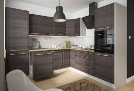 küchenblock l form küche komplett modern küchenzeile 270x242cm grau fino schwarz