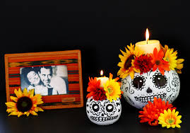 Day Of The Dead Pumpkin Carving Patterns by Easy To Make Day Of The Dead Skull Pumpkin Candle Holders
