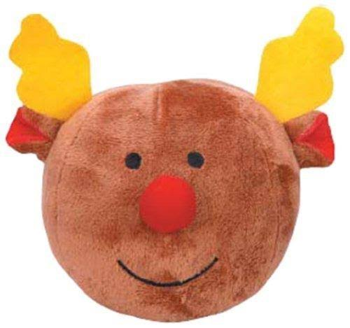 Grriggles Snowball Gang Plush Squeaky Dog Puppy Toy - Reindeer Head
