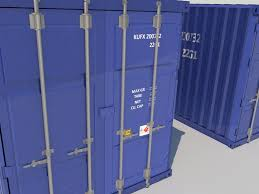 100 Shipping Container Model S Blue 3D 3D S World