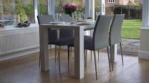 100 White Gloss Extending Dining Table And Chairs Fern Life Grey Dining
