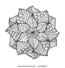 Mandala For Coloring Book And Adults